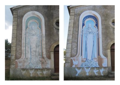 CABASSE   Notre Dame du Glaive avant et après restauration